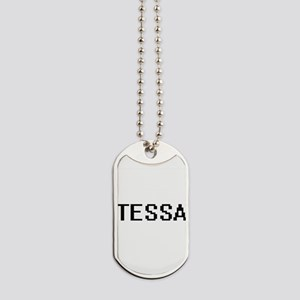 Tessa Digital Name Dog Tags