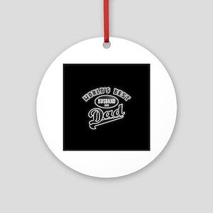 Best Husband/Dad Ornament (Round)