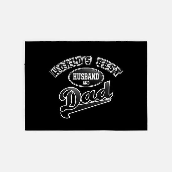 Best Husband/Dad 5'x7'Area Rug