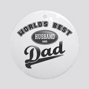 Best Husband/Dad Ornament (Round)