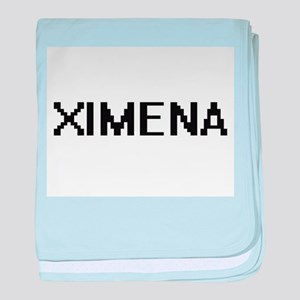 Ximena Digital Name baby blanket