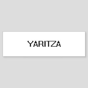 Yaritza Digital Name Bumper Sticker