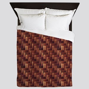 Parquet Flooring Pattern Queen Duvet