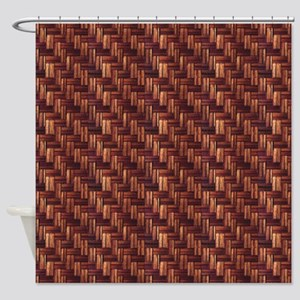 Parquet Flooring Pattern Shower Curtain