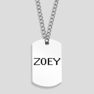 Zoey Digital Name Dog Tags