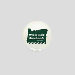 Oregon Beach Gravelhounds Green Mini Button