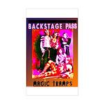"""Glam Rock"" Rectangle Sticker"