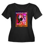 Women's Plus Size Scoop Neck Dark 'Glam' T-Shirt