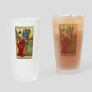 Vintage Memorial Day Drinking Glass