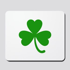 3 Leaf Kelly Green Shamrock with Stem Mousepad