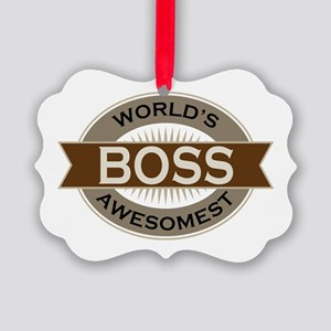 Awesome Boss Picture Ornament