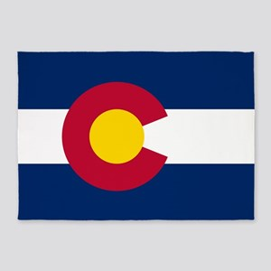 Colorado Flag 5'x7'Area Rug