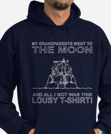 My Grandparents Went To The Moon Hoodie (dark)