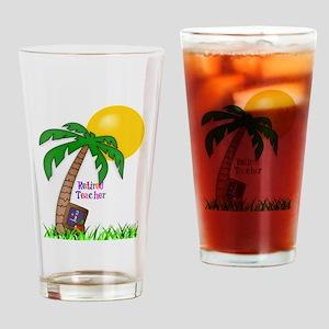 Retired Teacher, Apple and Slate Drinking Glass