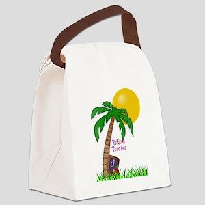 Retired Teacher, Apple and Slate Canvas Lunch Bag
