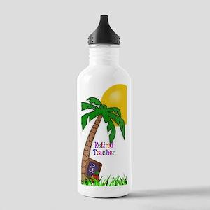 Retired Teacher, Apple Stainless Water Bottle 1.0L