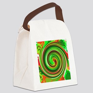 Green Whirlpool Canvas Lunch Bag