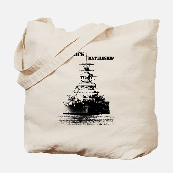 Bismarck Battleship Tote Bag