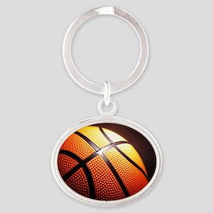 Basketball Ball Oval Keychain