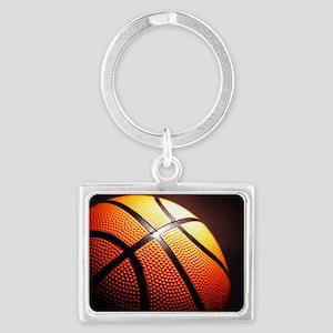 Basketball Ball Landscape Keychain
