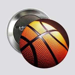 "Basketball Ball 2.25"" Button"