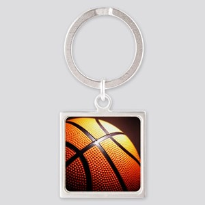 Basketball Ball Square Keychain