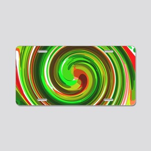 Green Whirlpool Aluminum License Plate