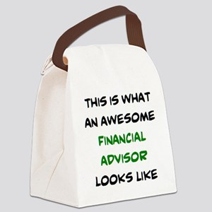 awesome financial advisor Canvas Lunch Bag