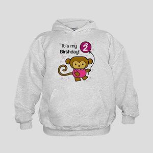 Monkey 2nd Birthday Kids Hoodie