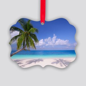 Tropical Beach Picture Ornament