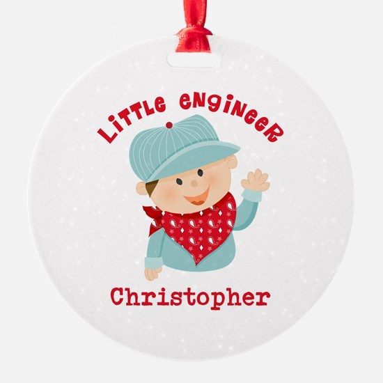 Little Engineer Personalized Ornament