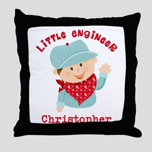 Little Engineer Personalized Throw Pillow