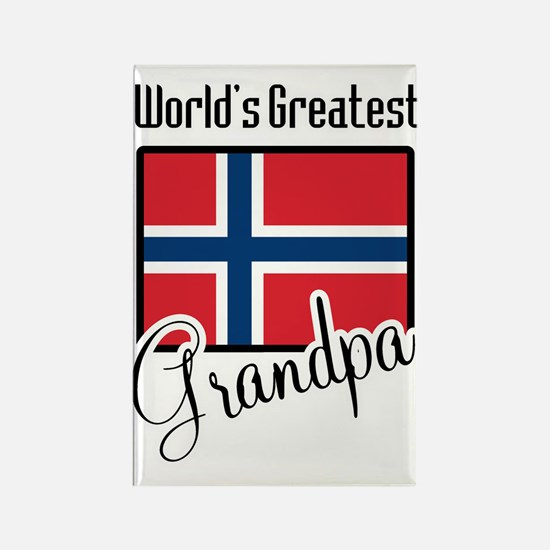 World's Greatest Norwegian Grandpa Rectangle Magne
