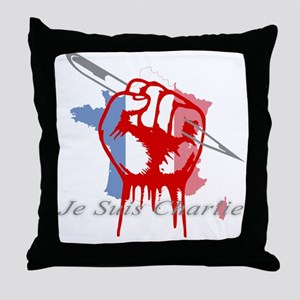 je suis charlie Throw Pillow