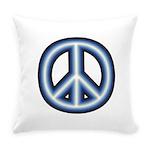 Blue Peace Symbol Everyday Pillow