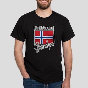 World's Greatest Norwegian Grandpa Dark T-Shirt