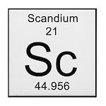 21. Scandium Tile Coaster
