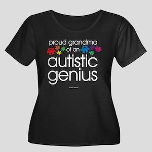 Proud Grandma Autistic Genius Plus Size T-Shirt