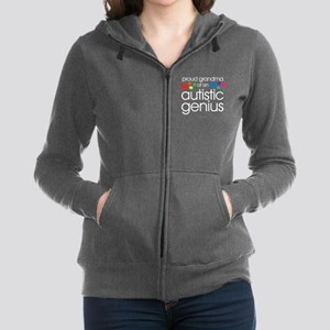 Proud Grandma Autistic Genius Women's Zip Hoodie