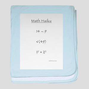 Math Haiku baby blanket
