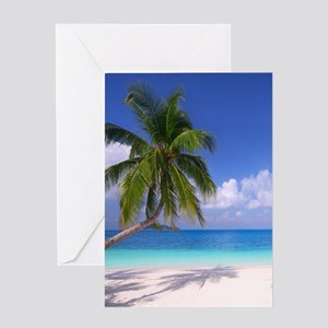 Tropical Beach Greeting Cards