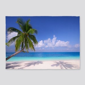 Tropical Beach 5'x7'Area Rug