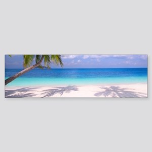 Tropical Beach Bumper Sticker
