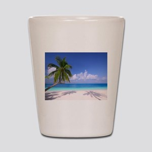 Tropical Beach Shot Glass