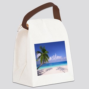 Tropical Beach Canvas Lunch Bag