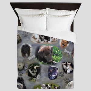 Happy Puppies Queen Duvet