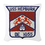 USS HEPBURN Woven Throw Pillow