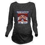 USS HEPBURN Long Sleeve Maternity T-Shirt