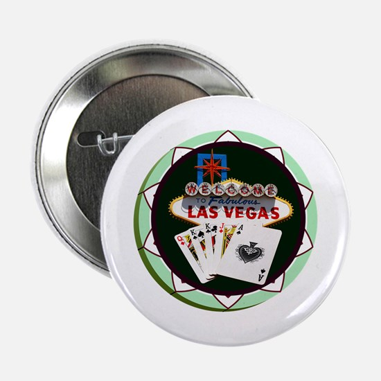 """Las Vegas Welcome Sign Poker Chip 2.25"""" Button"""