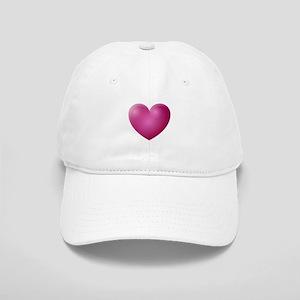 3D Magenta Heart Cap